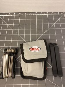 Bell Bike Bicycle Repair Kit Gently Used Complete Grey Pouch Patch Multi Tools