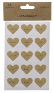 4 SHEETS HEART LOVE STICKER LABELS SET CRAFT GIFTS PARTY