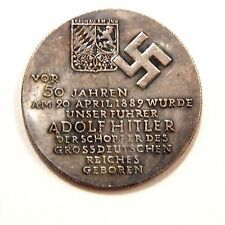 ADOLF HITLER 1939 / MEDAL - COIN OF III REICH / GERMANY / WW - 2