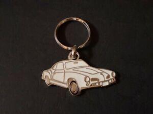 Key Ring Profile Volkswagen Karmann Ghia (White)
