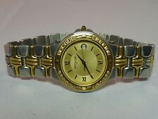 WITTNAUER 2 Tone w Diamond Accents Mens Watch Serviced & New Battery SHARP