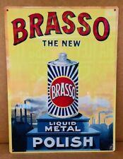 Brasso metal tin sign