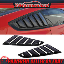 Fits 15-20 Mustang OE Style Side Window Louvers Glossy Black ABS