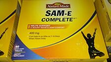 Nature made SAM-E Complete Nature Made 60 tablets -  400mg exp. 0ct/2017 (New)