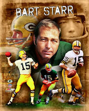 BART STARR Green Bay Packers All-Time QB Legend Premium POSTER Print