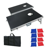 Foldable Cornhole Bean Bag toss Game Aluminum Frame Design For Tailgate Party