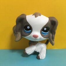 Littlest Pet Shop LPS Toys #2254 Grey & White Cocker Dog Figure