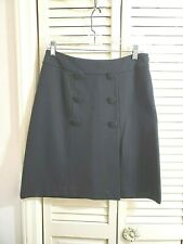 Talbots Black  Pencil Straight Skirt in a  Ponte Knit fabric Sz 4 P