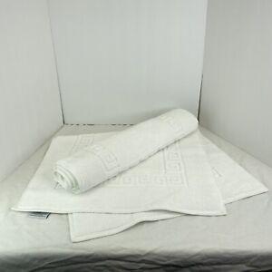 Linum Home Textiles 2-pk. Terry Greek Key Bath Mats White