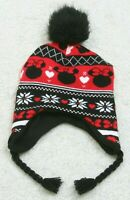 Disney Minnie Mouse Beanie Girls Children Kids Hat Cap Black Red White Acrylic
