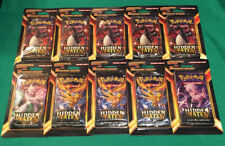 10 Pokémon Hidden Fates Booster Blister Pack Lot (+50 Cards!) Brand New! Sealed!
