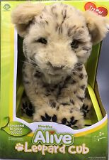 "WowWee Alive Leopard Cub Plush Robotic Sounds Animated Toy 11"" NEW in Box RARE"