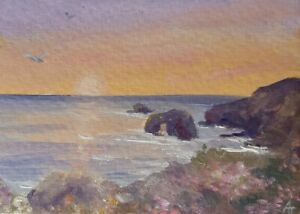 ACEO original oil painting of  Cornwall