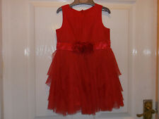 Baby Girls Mothercare Red Party Dress Age 9-12 months