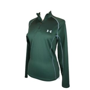 Under Armour 1/4 Zip Pullover Women S Coldgear Fitted Spell Out Stretch Unisex