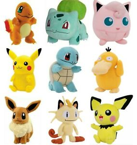 "Pokemon Pikachu Bulbasaur Charmander Squirtle Plush doll 6"" Stuff Animal Figure"