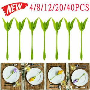 40Pcs Bloom Napkin Holders For Table Plastic Twist Flower Serviette Decor UK