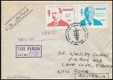 PARAGUAY 1994 AIRMAIL TAXED COVER TO AUSTRALIA (ID:663/D44170)