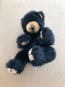 """Vintage Russ Berrie Blacky Black Bear 5-1/2"""""""