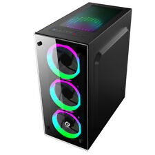 Glas  Pc Gehäuse USB 3.0 ATX ,Micro-ATX,Mini-ITX  Midi-Tower OVP schwarz YG1--s