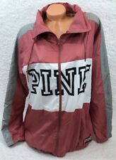 Victoria Secret PINK Funnel Neck Full Zip Begonia Anorak Jacket~Size M/L