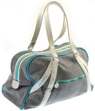 Lululemon Duffel Bag Yoga Gym Tote Gray Clothe Fabric Thick Zipper Pockets