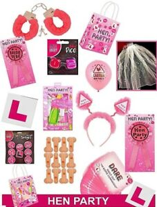 HEN NIGHT DO PARTY ACCESSORIES sash, balloons, head boppers, photo props ect