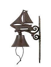 Door Bell Rustic Cast Iron Sail SREDA Antique Entry Wall Mount Vintage Doorbell