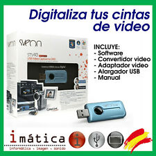 DIGITALIZADOR DE CINTAS DE VIDEO A PC USB ADAPTADOR CONVERTIDOR VHS SVEON STV40