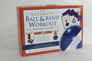 Cardio Pilates Yoga Ball Resistance Band Workout Set Ultimate Workout Book & DVD