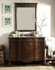 48� Baltic Brown Beckham Bathroom Sink Vanity & Mirror Set Sw-3882Sb-Tk-48Mir