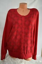 CHARTER CLUB (XXL) Sweater Cardigan Button Down RED GREEN Studs  MSRP $39.98