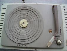 1 PLATINE VYNILE PHILIPS AG2009 ELECTROPHONE TOURNE DISQUE VINTAGE - AMPLI TUBE