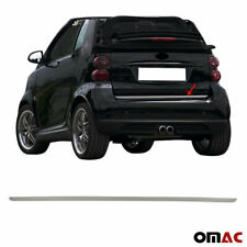 Dark Chrome Rear Tailgate Trunk Moulding Trim Steel for Smart Citycar 2007-2014