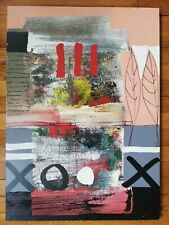 Signed Mixed Media Painting on Hardboard Panel ARTA Galerie Konstantin GRABOWSKI