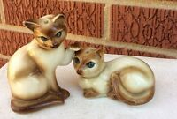 """SIAMESE CATS SALT & PEPPER SHAKERS tallest is 3"""""""