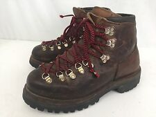 Vintage VASQUE Sz 6.5M BOOTS Hiking Trail Mountain LEATHER Brown USA Made RARE
