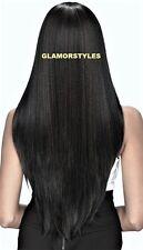"38"" Super Long Straight Layered Dark Brown Full Wig Hair Piece 2 NWT"