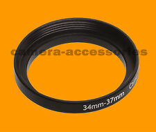 34mm a 37mm 34-37 stepping STEP UP Filtro Anello Adattatore 34-37mm 34mm-37mm M A F
