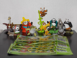KUNG FU PANDA 3 COMPLETE SET OF 9 WITH ALL PAPERS KINDER SURPRISE 2015