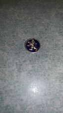 """Ancienne petite médaille""""blazon"""" idéal à coller ou autre lion flamand émail bleu"""