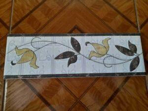 "Set of 3 - 12"" x 4"" Tile Border Old Antique Vintage 1990s Ceramic Collectible"