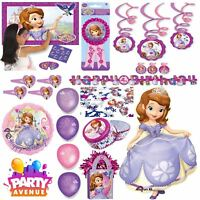 Sofia The First Party Tableware Decorations Balloons Favours