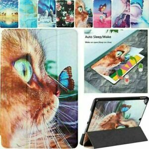 Butterfly Cat Wolf Leather Smart Flip Tablet Case For iPad Air Pro 5 6 7 8 Mini