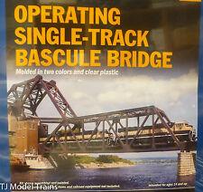 Walthers HO #933-3070 Operating Single-Track Railroad Bascule Bridge -- Kit -