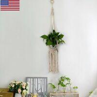 Macrame Rope Plant Hanger Garden Flower Pot Holder Hanging Basket Decoration USA