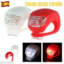 Juego De 2 luces LED De Bicicleta Silicona Fácil Instalación 3 Modos De Luz
