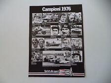advertising Pubblicità 1977 CHAMPION e ANGEL NIETO/BARRY SHEENE/IRYO VESTERINEN