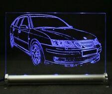 Saab 9-3 SportCombi als AutoGravur auf LED-Leuchtschild