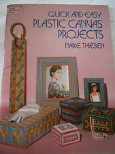 Quick and Easy Plastic Canvas Projects Pattern Book Tissue Cover Keepsake Box